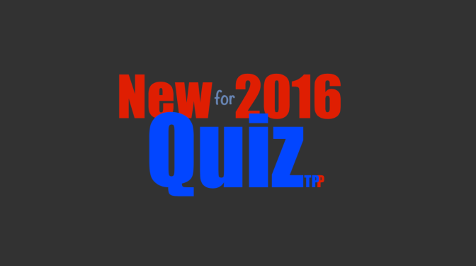 New for 2016 Quiz